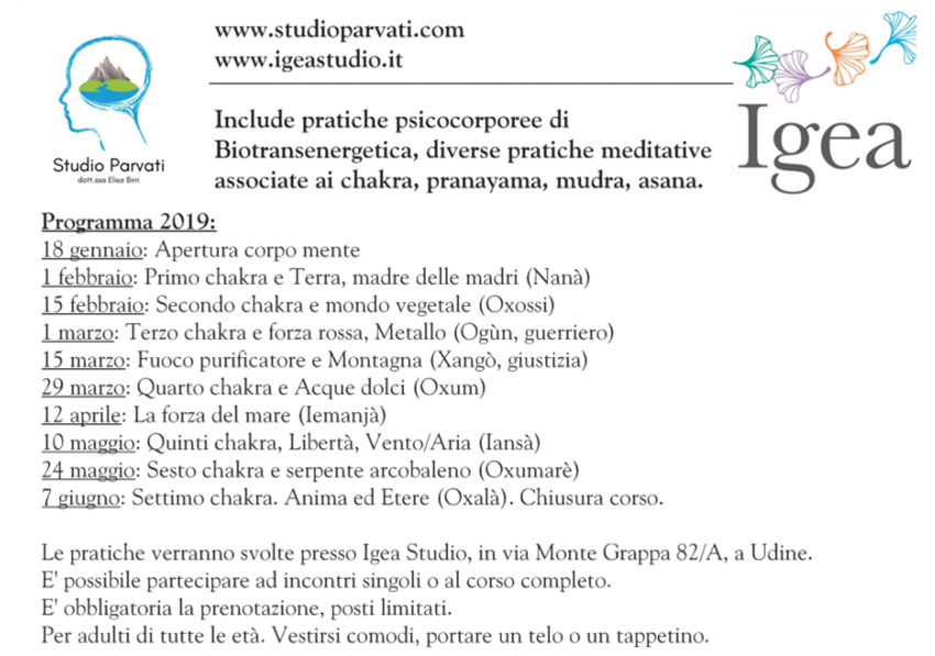 Corso Meditazione Integrale a Udine