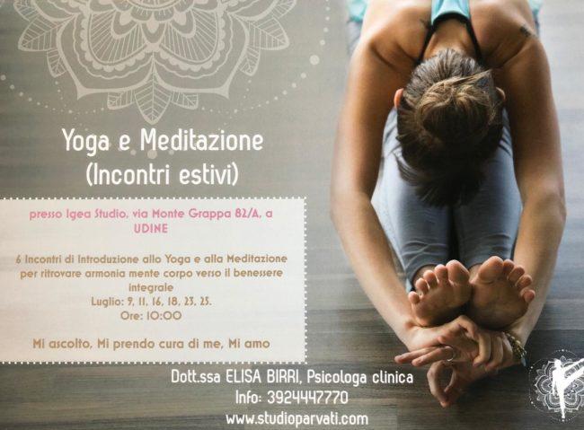 YogaMeditation a Udine. Incontri Estivi.